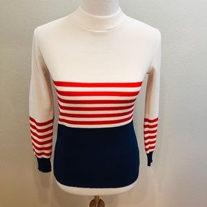 Vintage Seventies Striped Sweater - Size XS